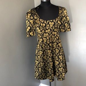 French Connection Party Dress Gold